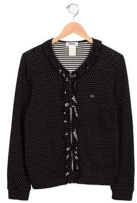 Rykiel Enfant Girls' Knit Polka Dot Jacket