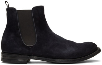 Officine Creative Navy Anatomia 14 Chelsea Boots