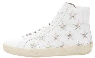 Saint Laurent Star Studded High-Top Sneakers