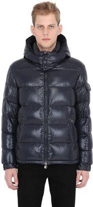 Maya Nylon Laqué Down Jacket $1,070 thestylecure.com
