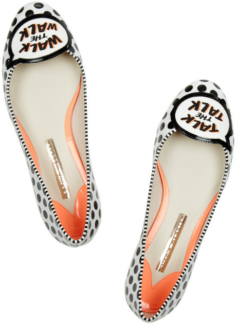 Webster Sophia Jerry appliquéd leather flats