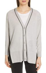ATM Anthony Thomas Melillo Spring Colorblock Silk, Wool & Cashmere Cardigan