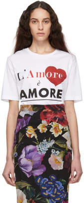 Dolce & Gabbana White LAmore ė Amore T-Shirt