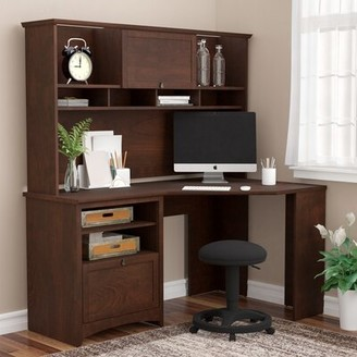 Darby Home Co Fralick Reversible Executive Desk with Hutch Darby Home Co