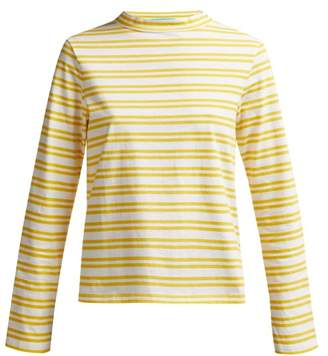 MiH Jeans Emelie Striped Cotton Top - Womens - Yellow Stripe
