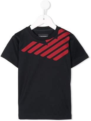 Emporio Armani Kids contrast logo T-shirt
