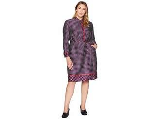 e71517f29b at Zappos · Lauren Ralph Lauren Plus Size Print Twill Shirtdress