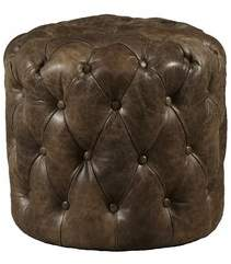 Highway Kendra Leather Cocktail Ottoman