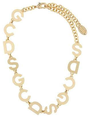 Charm & Chain Gcds logo charm chain necklace