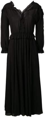 Bottega Veneta midi georgette dress