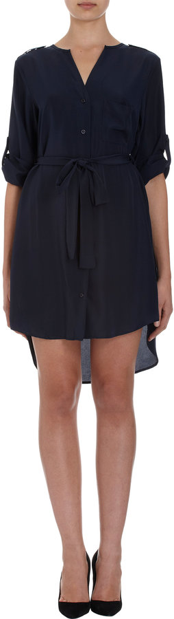 Barneys New York Roll-Tab Sleeve Dress