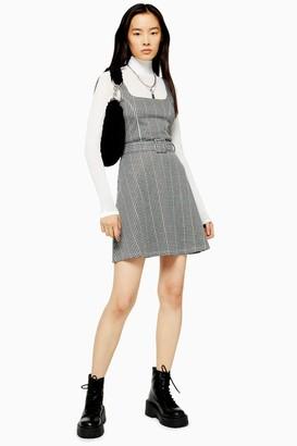 Topshop Belted Pinafore Dress