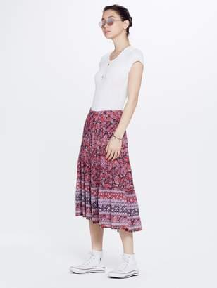 Xirena XiRENA Avedon Printed Gauze Kaia Skirt - Red