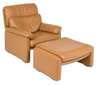 Rolf Benz Leather Armchair & Ottoman