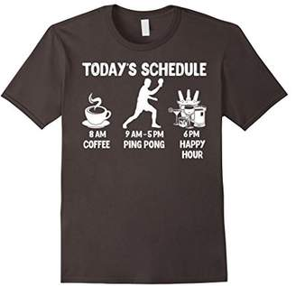 Happy Hour Ping Pong T-Shirt - Funny Ping Pong Gift