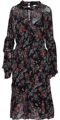 IRO Ruffled Floral-Print Georgette Midi Dress