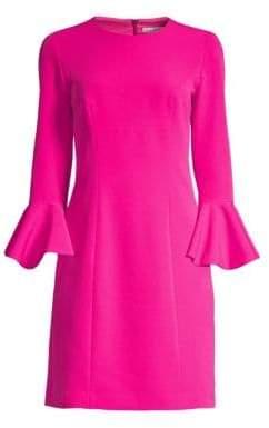 Trina Turk Women's Jazzy Panache Bell-Sleeve Sheath Dress - Brilliant Fuchsia - Size 0