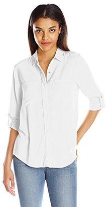 Calvin Klein Jeans Women's Summer Utility Long Sleeve Shirt $69.50 thestylecure.com