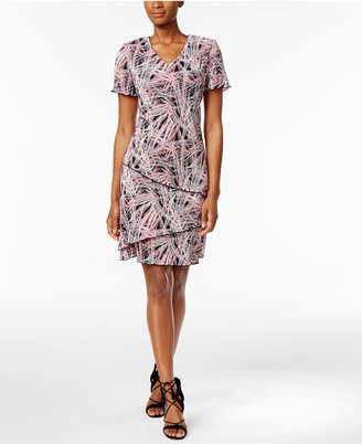 Connected Printed Tiered Shift Dress $69 thestylecure.com