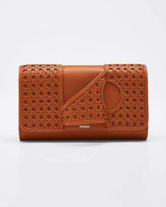 Perrin Paris L'Asymetrique Woven Leather Glove Clutch Bag