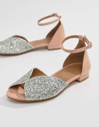 Asos DESIGN Lozzy Peep Toe Ballets