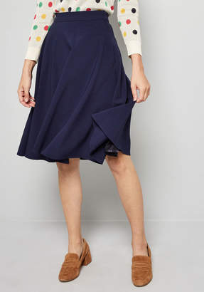 Co Shaoxing Lidong Trading Just This Sway A-Line Skirt in Navy