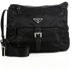 Prada Nylon & Leather Crossbody Bag $920 thestylecure.com