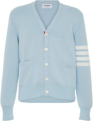 Thom Browne Four-Band Cotton Cardigan