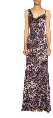 Nicole Miller Abstract Print Bodycon Maxi Dress