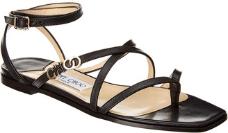 Jimmy Choo Jas Vachetta Leather Sandal