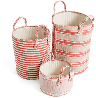 Lulu & Georgia Tristina Basket Set, Red and Natural