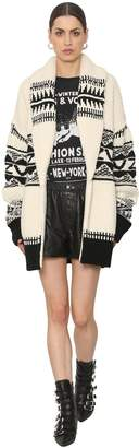 Zadig & Voltaire Intarsia Wool Knit Cardigan