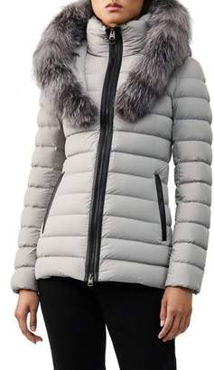 Mackage Kadalina Fur-Trim Hooded Puffer Coat