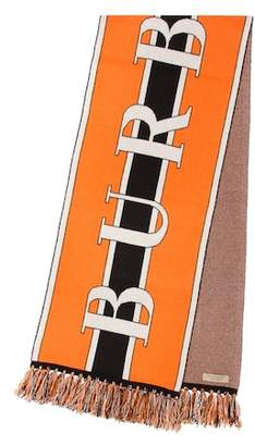 Burberry Logo cashmere scarf