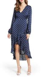 Endless Rose Polka Dot High/Low Maxi Dress