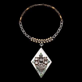 Lulu Frost Fine Vintage Pendant Necklace - Diamond Drop