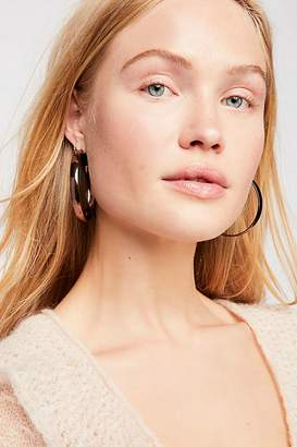 Flat Edge Hoop Earrings