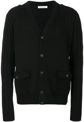Pierre Balmain ribbed sleeve cardigan