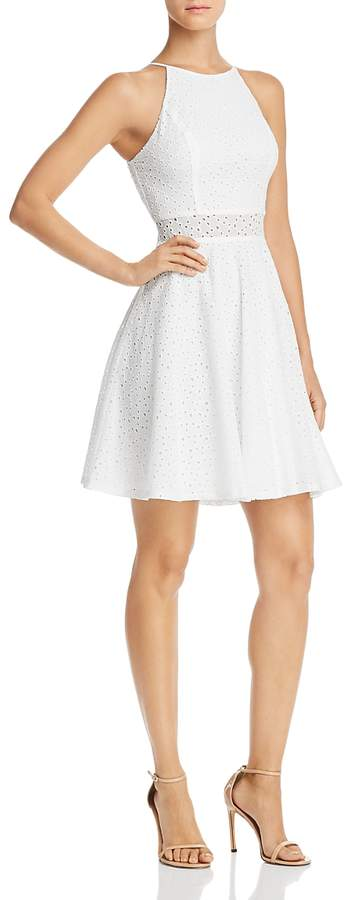 Eyelet Fit-and-Flare Dress - 100% Exclusive