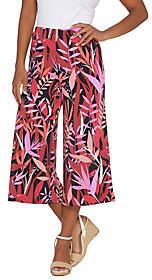 Bob Mackie Bob Mackie's Tropical Paradise Printed GauchoKnit Pants