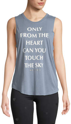 Spiritual Gangster Heart Graphic Scoop-Neck Muscle Tank