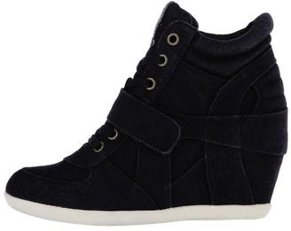 ASH Bowie Denim Sneaker Wedge $175 thestylecure.com