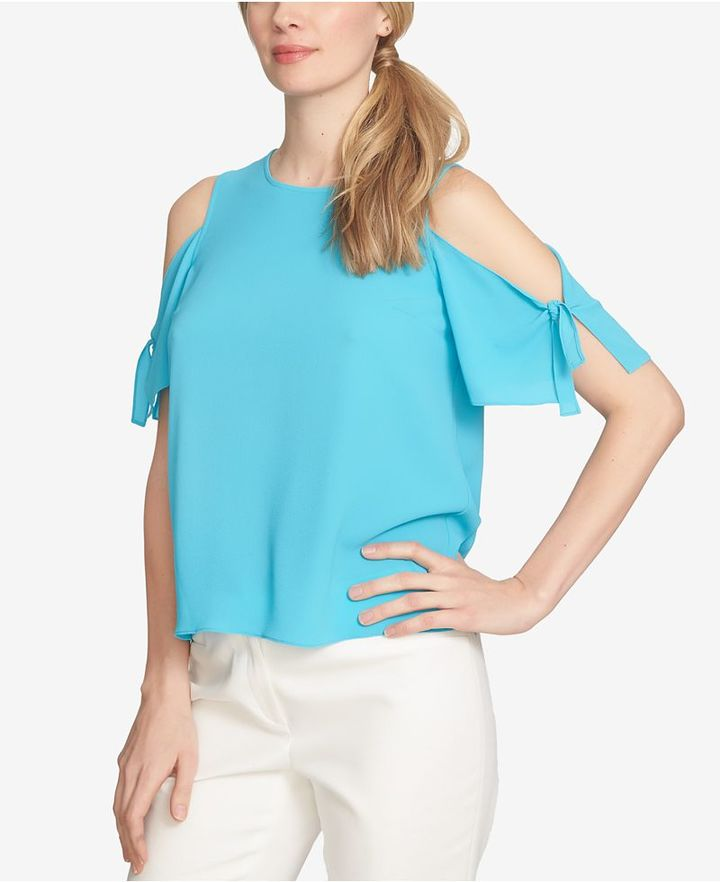 CeCe Cold-Shoulder Top