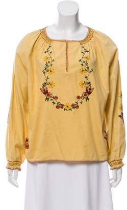 Blugirl Embroidered Long Sleeve Blouse