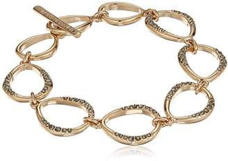 Kenneth Cole New York scattered pave gold tone with stones link bracelet