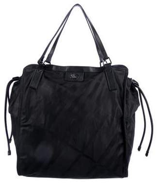 Burberry Leather-Trimmed Buckleigh Tote Black Leather-Trimmed Buckleigh Tote