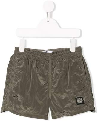 Stone Island Junior metallic swim shorts