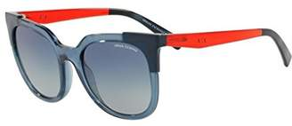 Armani Exchange Women's Injected Woman Square Sunglasses