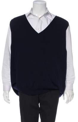 Prada Cashmere Oversized V-Neck Sweater Vest