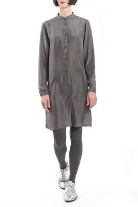 Clara Kaesdorf Grey Silk Shirtdress
